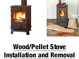 Wood/Pellet Stove Installation and Removal Want to have one installed? We can do that! We would recommend a quick free estimate appointment prior to your stove purchase to make sure you have the right kind of space and venting options. Want one removed? We can do that too!